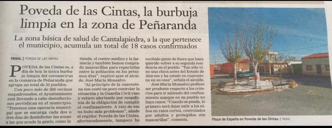 Poveda de las Cintas, la burbuja limpia en la zona de Peñaranda